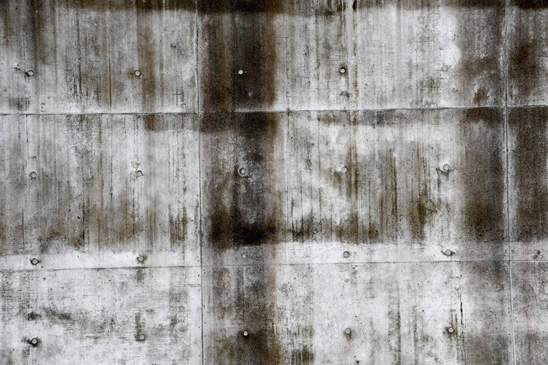 汚れたコンクリートの壁1